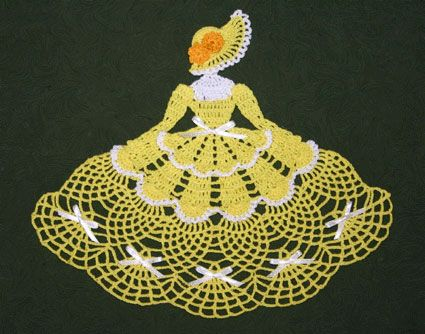 Ms Mum Crinoline Girl Doily-- I purchased this pattern from this site and made it for my mother. She loves it! -Crochet