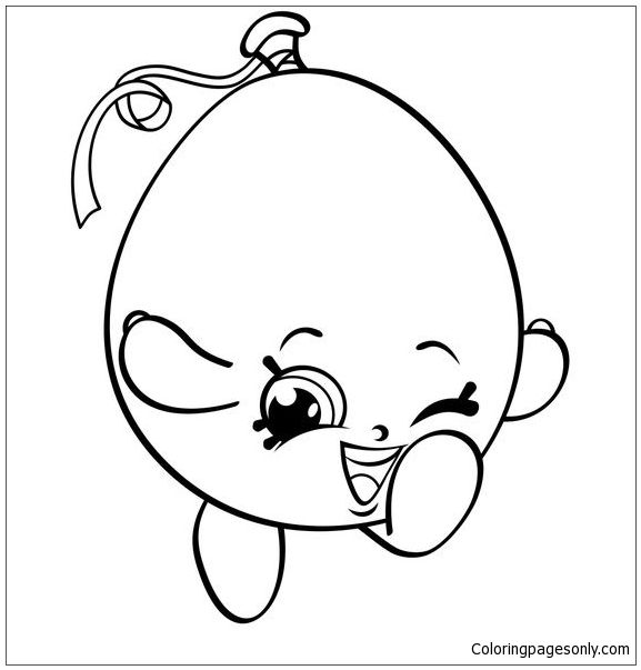 Happy Balloon Shopkins Coloring Page Shopkins Colouring Pages