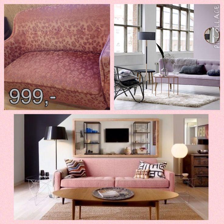 Rosa sofa 999,-  www.facebook.com/reuseaalborg