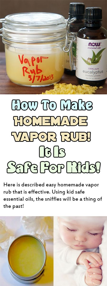 How To Make Homemade Vapor Rub! It Is Safe For Kids! Here is described easy homemade vapor rub that is effective. Using kid safe essential oils, the sniffles will be a thing of the past! --sponsor-- Colds are very often and they can be bad. Sniffy, runny, stuffy noses for your kids can be heart breaking. …
