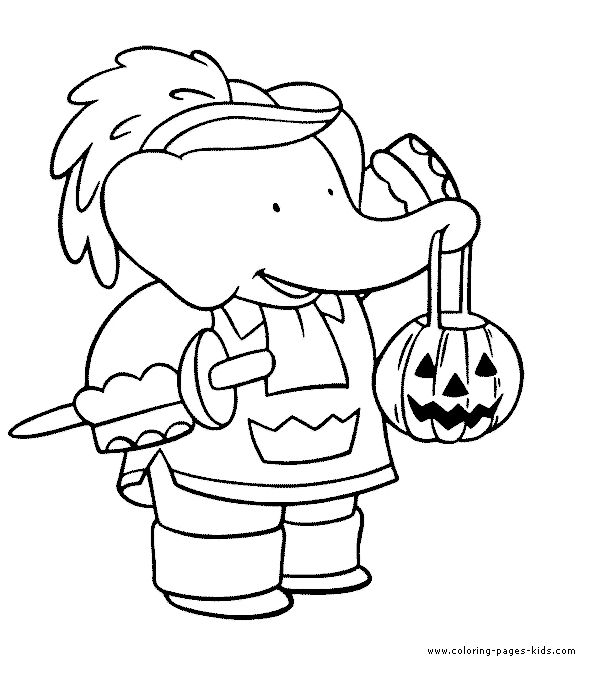 cartoon character halloween coloring pages - photo#10