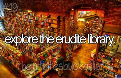 The Initiates' Bucketlist ~ the library in the pic is The Elliot Bay Book Company in Seattle