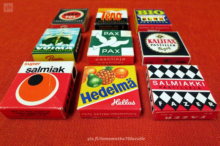 Karkkiaskeja 70-luvulta. Yle tarpeisto. yle.fi/lomamatka70luvulle Kuva: Riikka Kurki / Yle