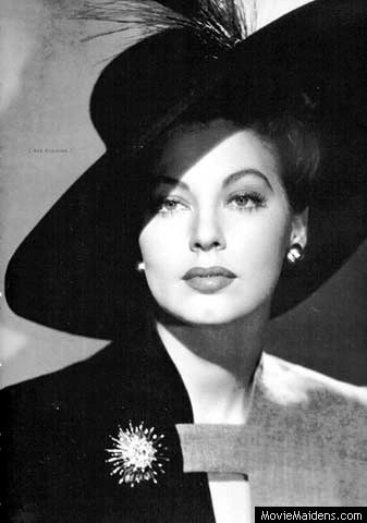 Ava Gardner-the epitome of 1940s Hollywood glamour                                                                                                                                                                                 More