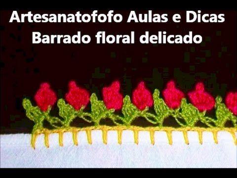 Barrado de Crochê Para Toalhas e Panos de Prato (Nº01) - Parte 1/2 - YouTube