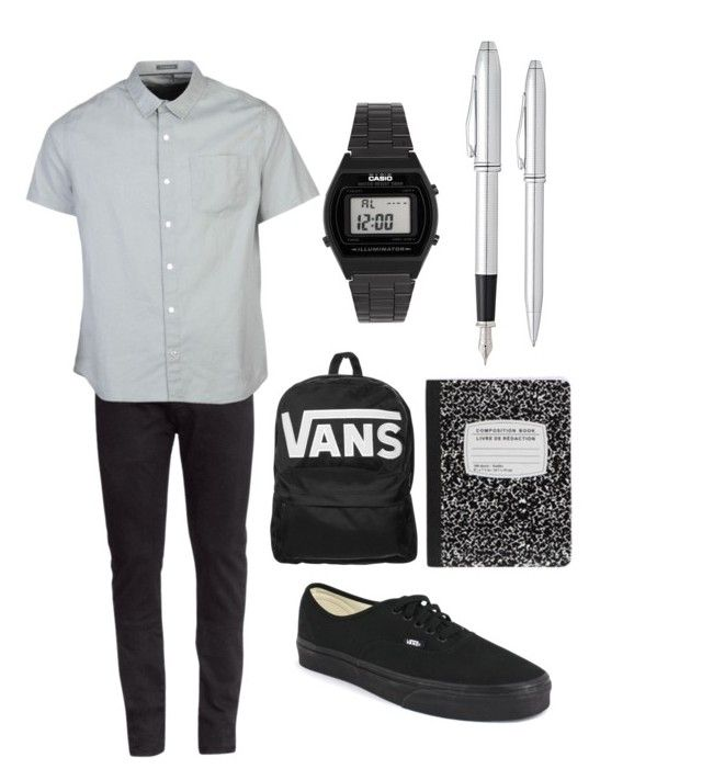 #5 by luke-fallon on Polyvore featuring polyvore, fashion, style, H&M, Vans, Casio and Fountain