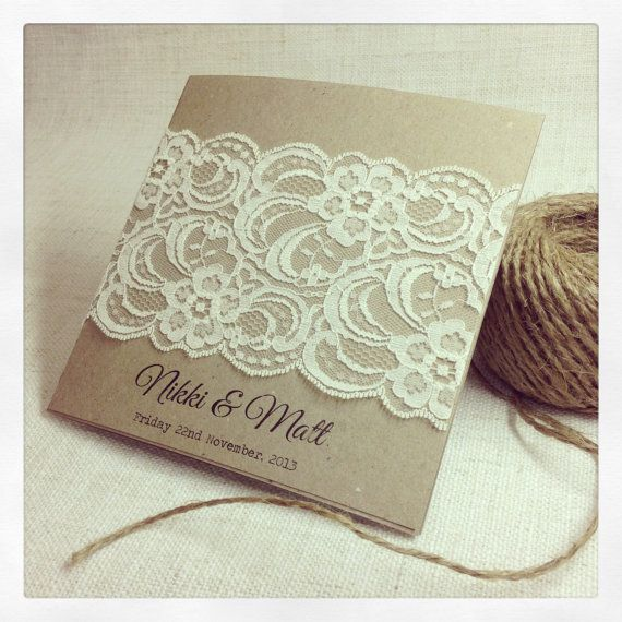 Rustic Wedding Invitation Rustic Vintage by StunningStationery, $10.00