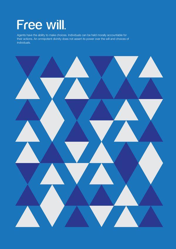 Genis Carreras' Mininimalist Philosophy Posters