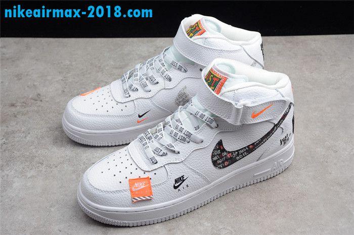 Nike Air Force 1 Mid Just Do It Bq6474 100 Men And Women Sneaker White Sneakers Men Fashion Womens Sneakers Sneakers Fashion