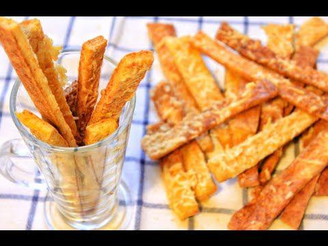 Хлебные палочки с сыром Гриссини - làm Phô mai Que NgooonTuyệt - YouTube