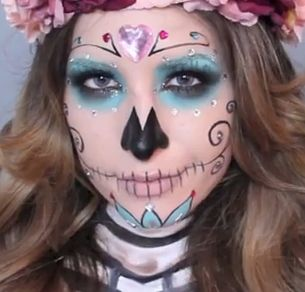 Makeup and How to Style for Girls: Halloween Sugar Skull Makeup Tutorial by Jessica Harlow