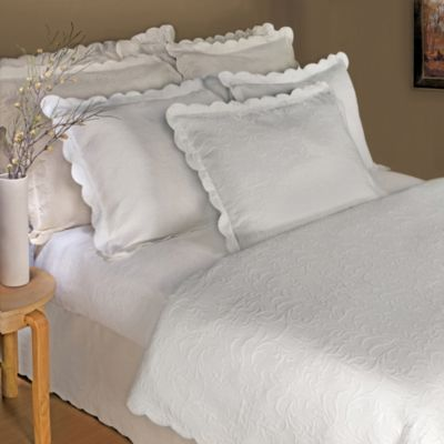 Lamont Home™ Majestic Coverlet in White - BedBathandBeyond.com