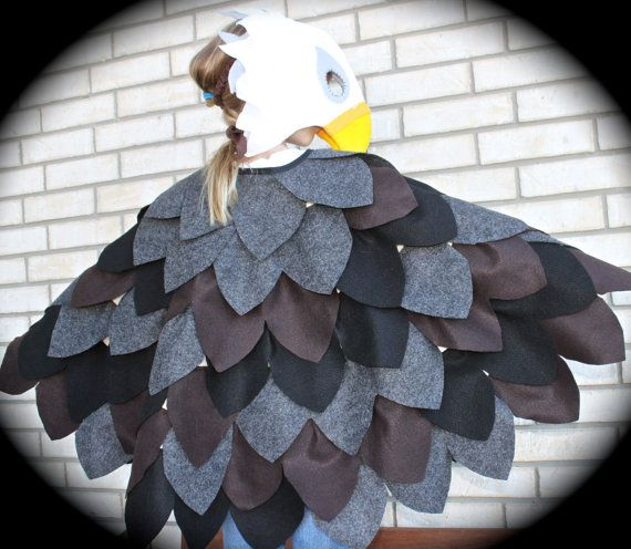 Child's Bald Eagle Parrot Hawk or Eagle Costume by abbysatticsatx Etsy $90