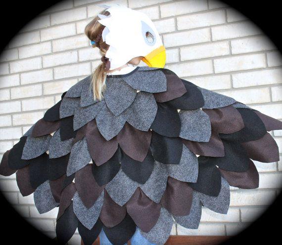 Child's Bald Eagle Parrot Hawk or Eagle Costume by abbysatticsatx Etsy $90