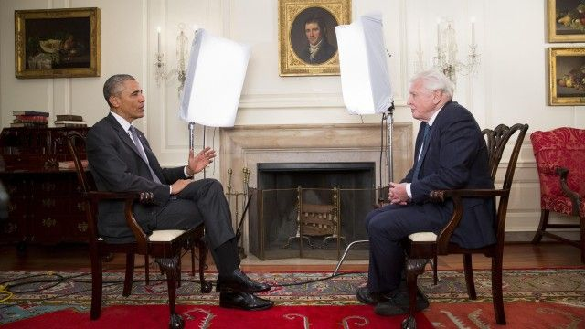 Barack Obama turns tables in David Attenborough climate change interview | Environment | The Guardian