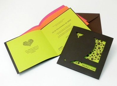 Invitación color verde - Invitaciones de boda diferentes