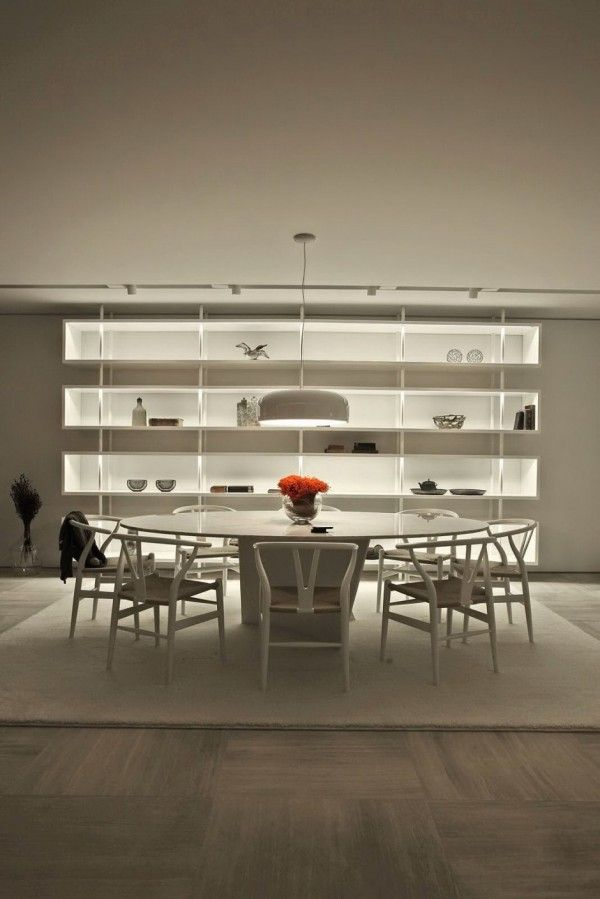 #House: in shelving #white #minimal #architect