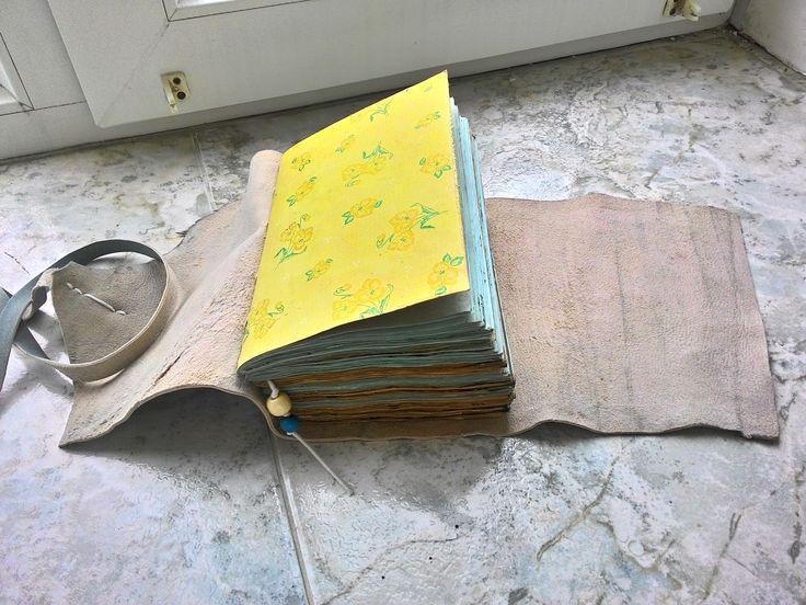 Блокнот,кожа,состаренная бумага