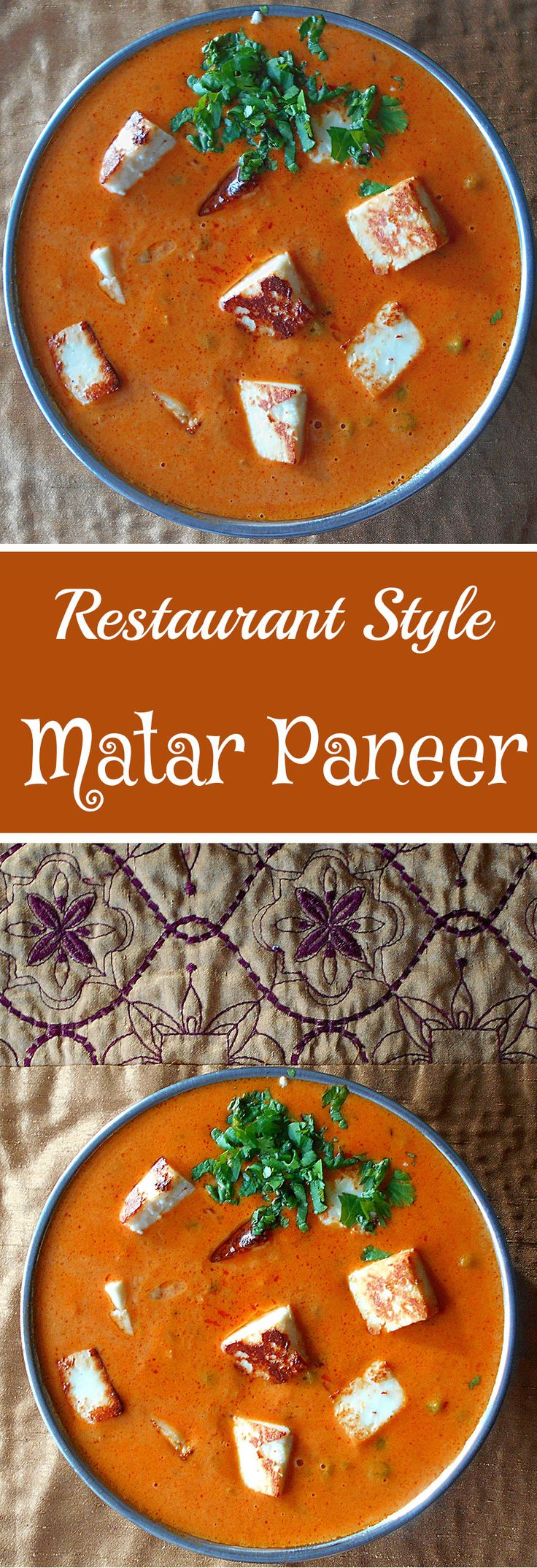 Now you can make Indian Restaurant food at home with this easy to make matar paneer recipe. Quick vegetarian recipe for dinner. Indian Food is delicious and easy to make.