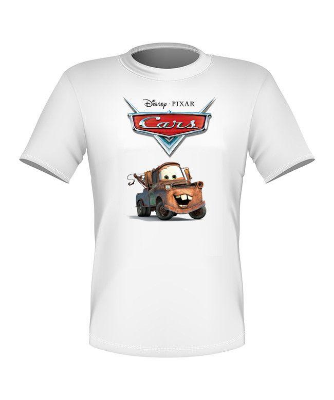 Brand New Fun Disney Cars Movie T-shirt Mater All Sizes