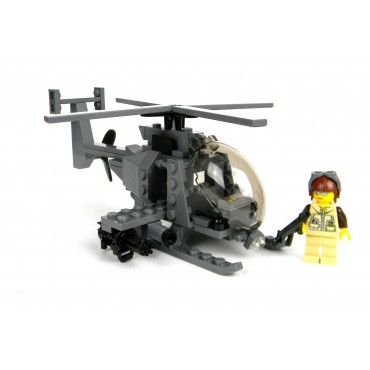 Army AH-6 Little Bird Helicopter Made With Real LEGO(R) Bricks. To purchase or for a complete description visit http://www.battlebrickcustoms.com/custom-lego-sets/army-ah-6-little-bird-helicopter.html
