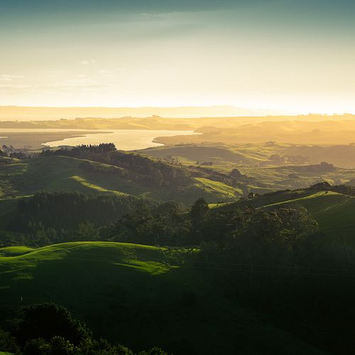 New Zealand Landscape Sunset by Momento Creative on Flickr.