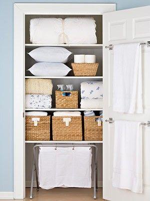 Organization Ideas  to  Organize Your Linen Closet