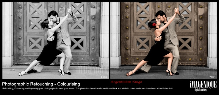 Photographic Retouching. COLOURISING. Transforming a black and white photo into colour