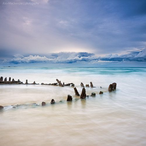 #cloud #sand #ship #woolgoolga #wreck Slow decay by Alex Mackenzie