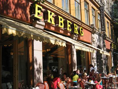 Ekberg, among the oldest Cafés. No self service here : ) Helsinki, Finland