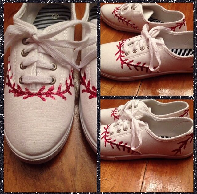 Creative project for baseball season! Baseball girlfriend, baseball boyfriend. Love them!!