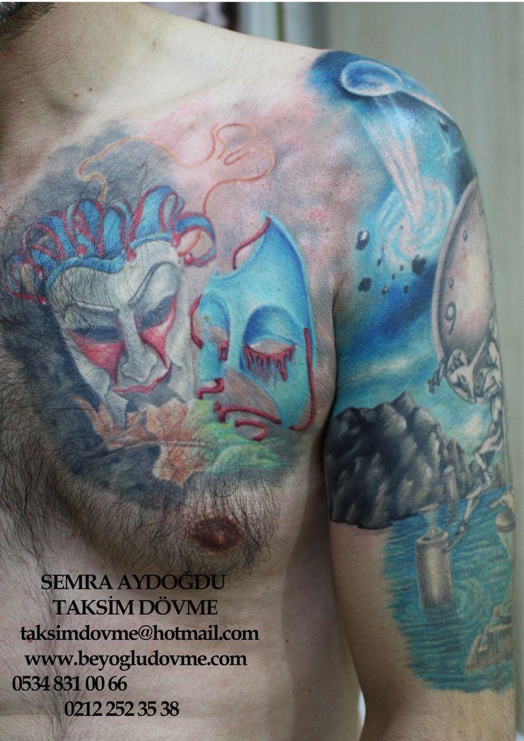space tattoo,uzay dövmesi