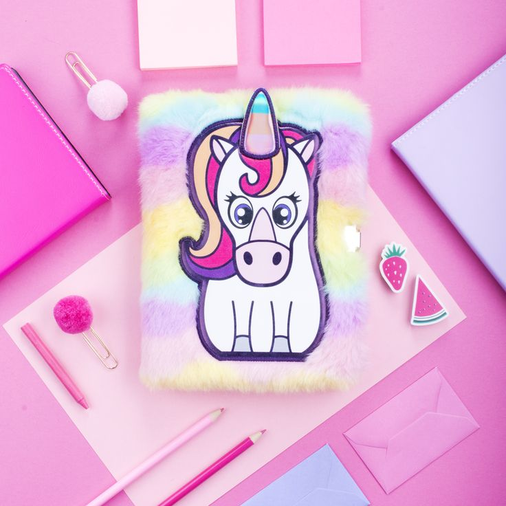 Girls Christmas Gift Idea. Unicorn Plush 3D Diary