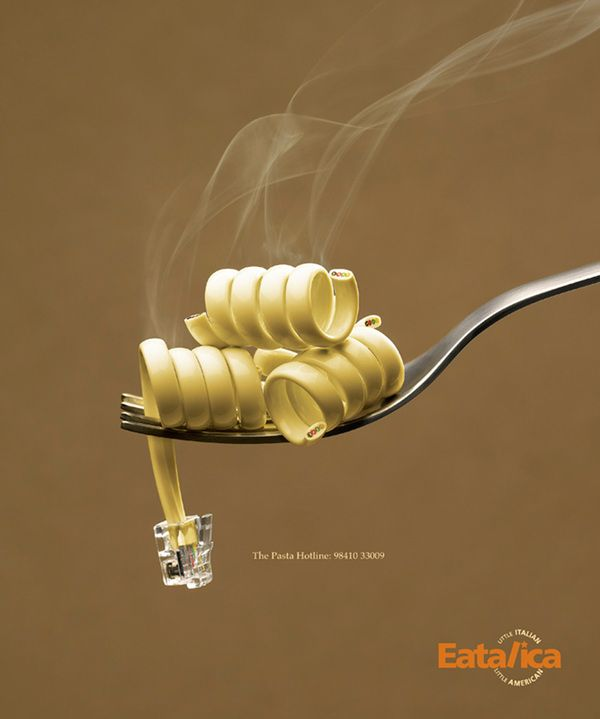 Pasta Hotline by Sharad Haksar, via Behance | #ads #marketing #creative #werbung #print #poster #advertising #campaign < repinned by www.BlickeDeeler.de | Have a look on www.Printwerbung-Hamburg.de