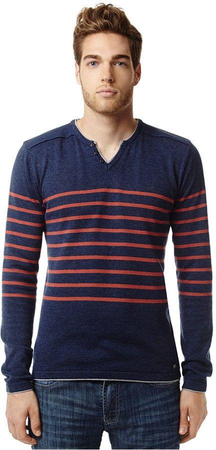 Buffalo David Bitton Striped Heathered Sweater