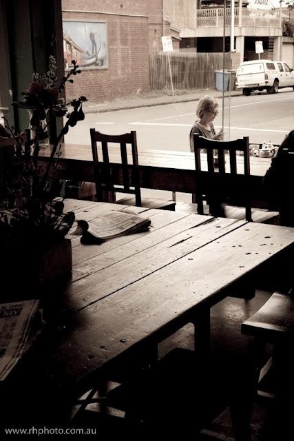 The Corner Shop - Yarraville - nice wooden tables.