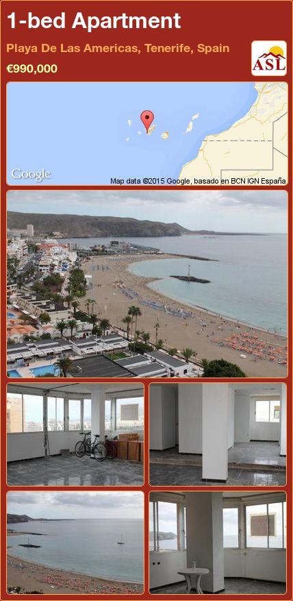 1-bed Apartment in Playa De Las Americas, Tenerife, Spain ►€990,000 #PropertyForSaleInSpain