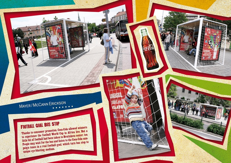 Football bus-stop for Coca-Cola