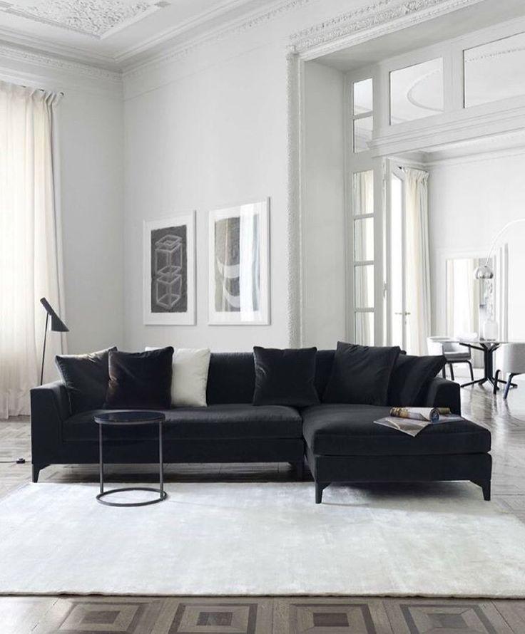 Black and white hues. | #livingroom