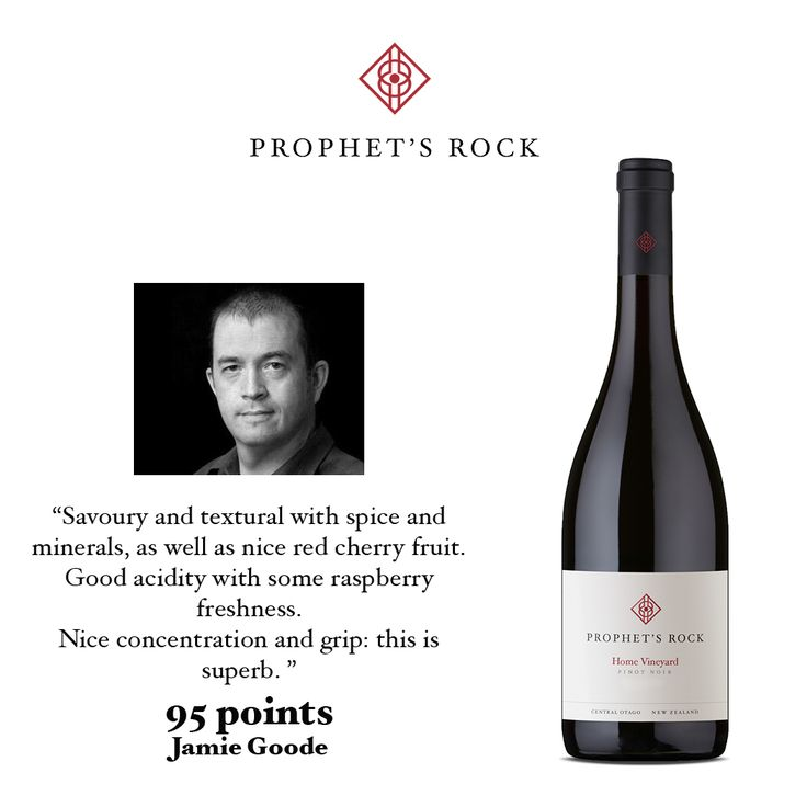 UK Wine Writer Jamie Goode has included our Prophet's Rock Home Vineyard Pinot Noir 2013 in one of his Wines of 2016 lists. Jamie has a fantastic blog worth following, you can visit the full link here: http://www.wineanorak.com/wineblog/