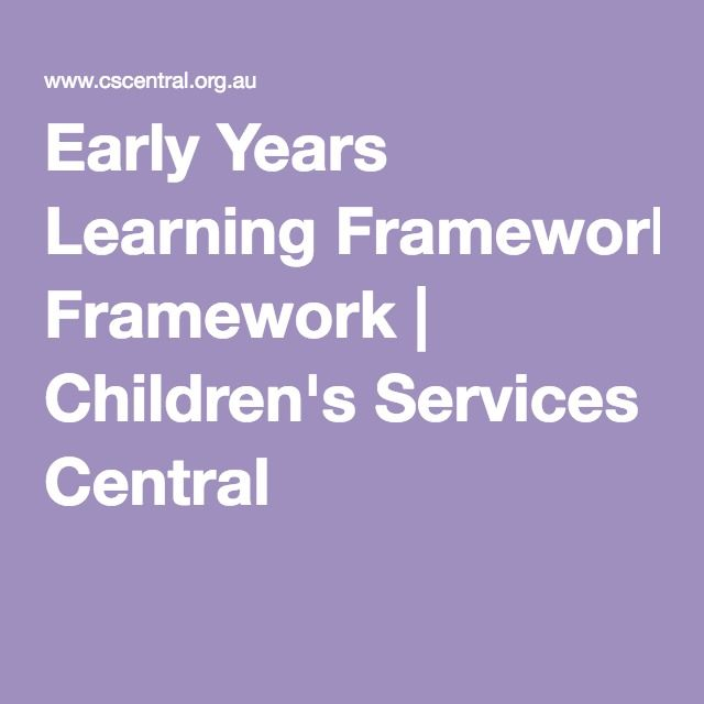 Early Years Learning Framework | Children's Services Central