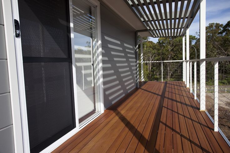 DecoDeck Bush Cherry. Naturally beautiful Australian made, Super Durable, Low Maintenance decking. Timber look aluminium. #decodeck #deck #decking #bushcherry #timber #aluminium