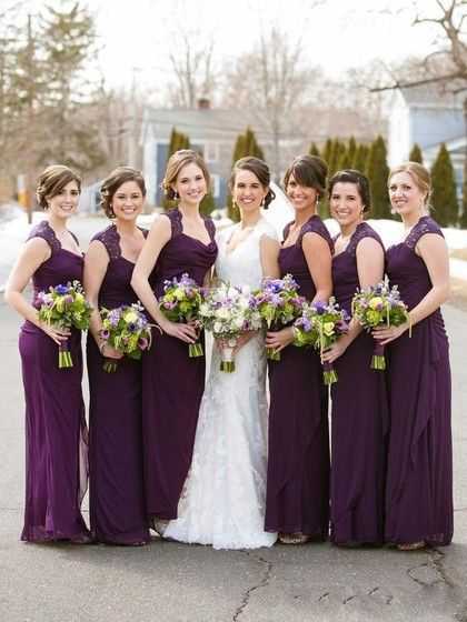Shop Cowl Neck Chiffon with Lace Inexpensive Sheath/Column Ankle-length Bridesmaid Dresses in New Zealand