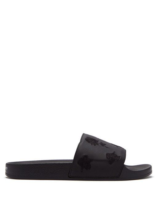 47c805939491 Y-3 Adilette embroidered rubber slides.  y-3  shoes