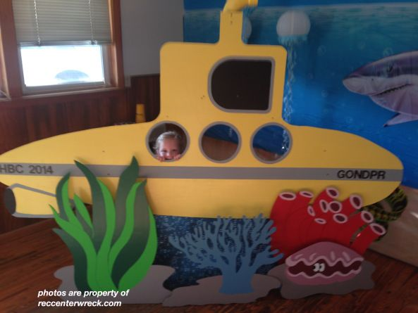 """Fun """"photo-booth"""" prop idea - would probably be pretty easy to  cut out of card board and paint."""
