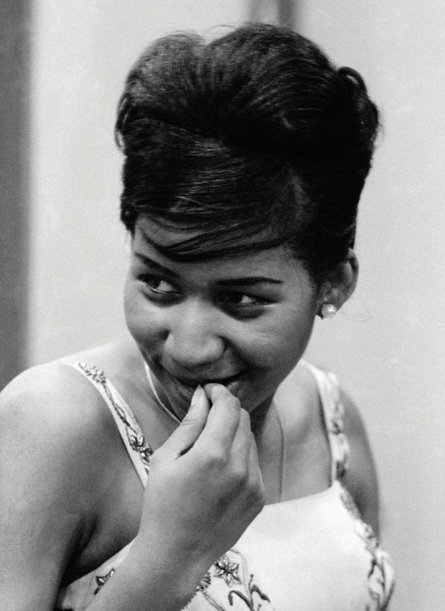 Aretha Franklin at her first Columbia recording sessions, New York City, August 1960