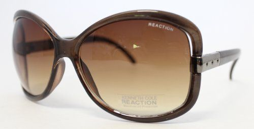Kenneth Cole Reaction Plastic Fashion Semi Rimless Sunglass Brown, Brown Gradient Lenses KC1185 50F Kenneth Cole REACTION. Save 73 Off!. $19.99