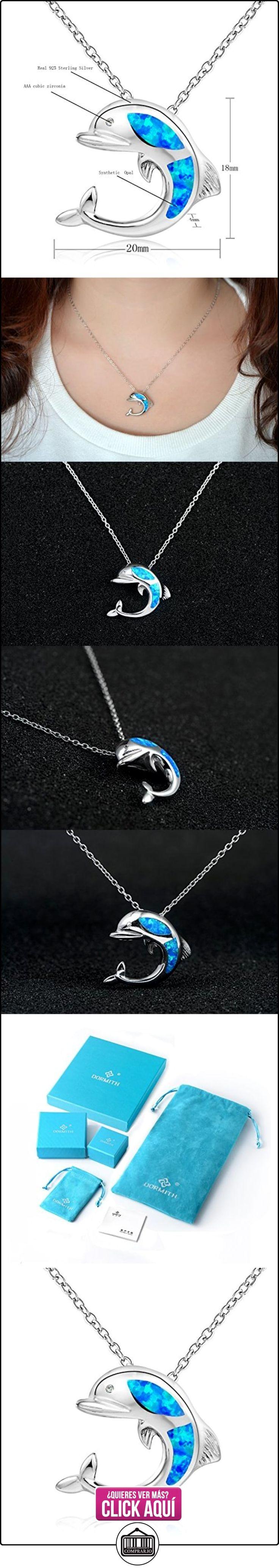 Dormith® Plata de ley 925 Ópalo azul sintético collares para las mujeres Delfín colgante de collar rodio moda joyas  ✿ Joyas para mujer - Las mejores ofertas ✿ ▬► Ver oferta: http://comprar.io/goto/B00SSY83C2