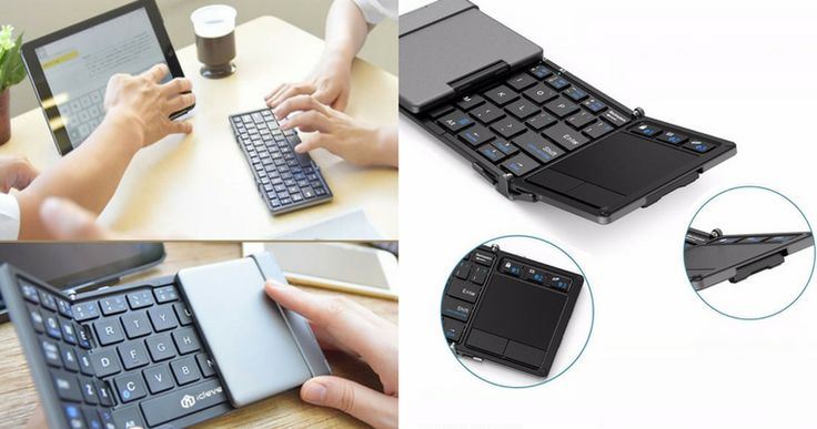 When it comes to typing, nothing beats a physical keyboard. If you work on the go, the iClever Portable Folding Keyboard is the perfect accessory for you.