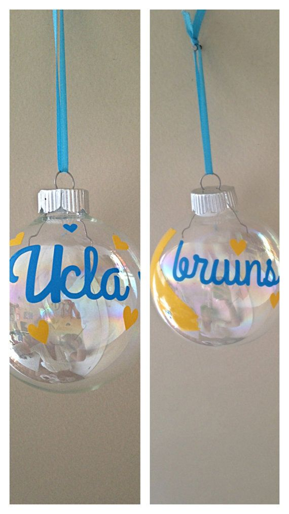 college football.bruins. California.UCLA bruins Christmas ornament Great California by SEVENTHandJ, $10.00